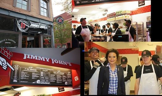 JIMMY JOHN'S - DOWNTOWN is NOW OPEN  Thank you to the many, many folks who made this adaptive reuse project possible! And congratulations, Matt Kritzer and Tim Woodard, on your new store that has made downtown Huntsville history!  Hours of Operation: Sunday - Wednesday 11:00AM - 10:00PM Thursday - Saturday 11:00AM - 3:00AM  $5 Sandwiches Dine-In & Carry Out / You only need to order ONE sandwich to take advantage of Jimmy John's delivery services as well! (256) 534-9996
