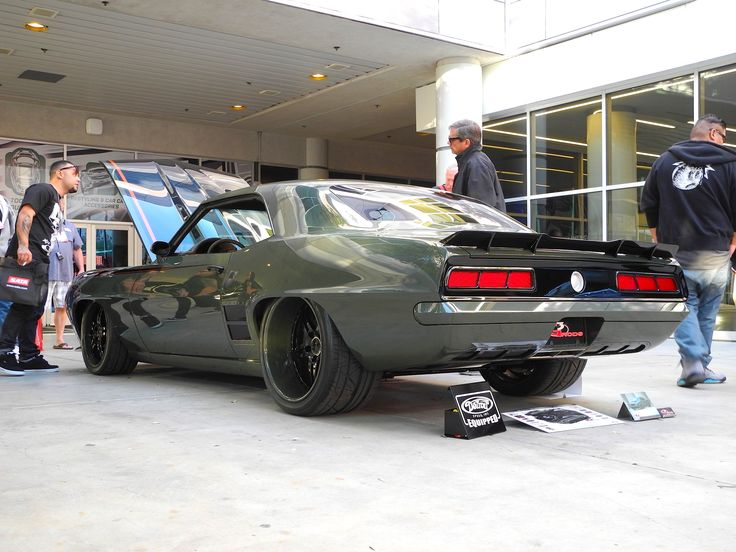"""Mary and Clayton Graham's 750HP 572ci """"T-Rex"""" '69 Camaro, by G3 Rods, at the…"""