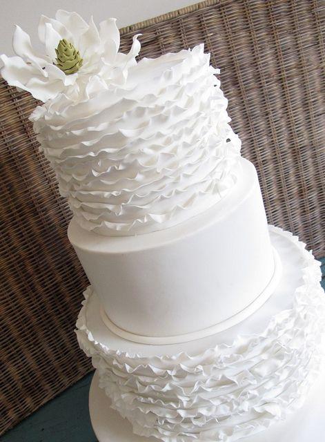 gorgeous ruffled wedding cake
