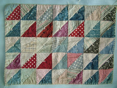 Antique miniature calico doll quilt seen on eBay at hocsocmom007