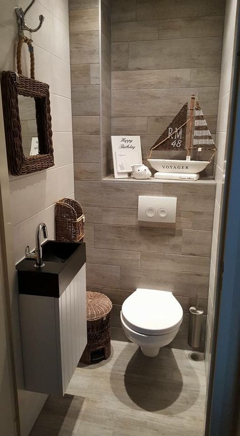 add a little character to your guest bathroom by including a few decorative touches - Toilet Design Ideas