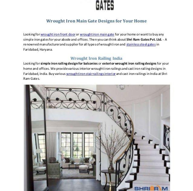Wrought Iron Main Gate Designs Shri Ram Gates Elegant Home ...