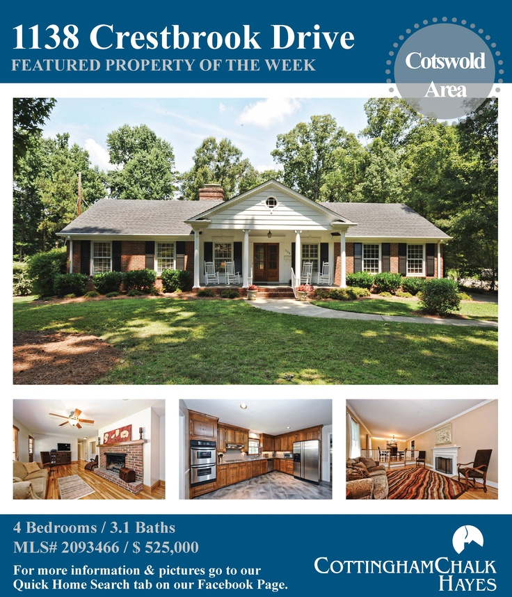 Featured Property of the Week: 1138 Crestbrook Drive ~ Cotswold Area ~ Charlotte, NC