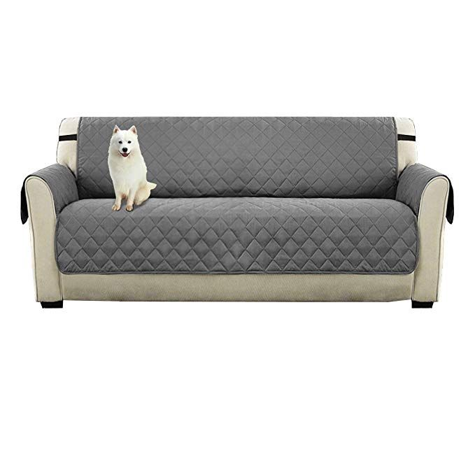 Watta Anti Slip Sofa 3 Seater Reversible Slipcovers Grey Fabric For Pet Dog Couch Covers Protectors Review Dog Couch Cover Dog Couch Couch Covers
