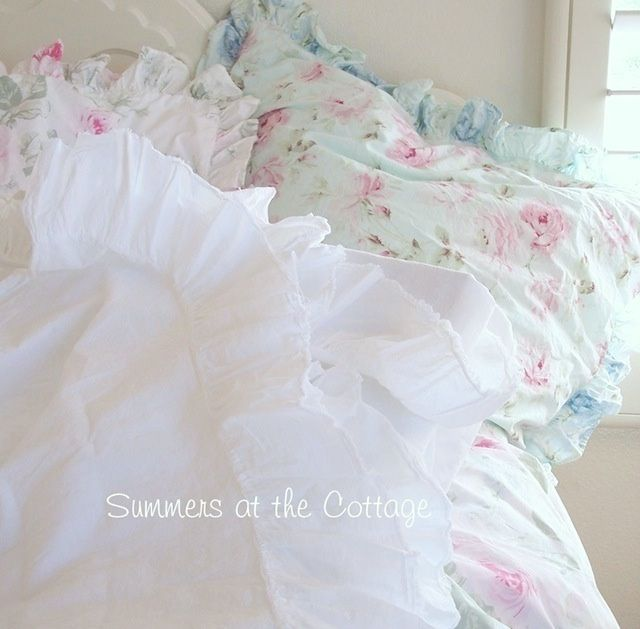 PORTUGAL FINE LINENS PURE WHITE COTTON RUFFLE SHEETS - FULL, QUEEN, KING