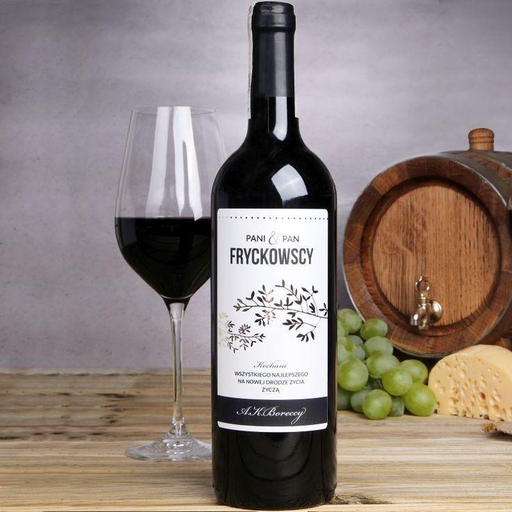 Personalizowane Czerwone Wino GAŁĄZKI