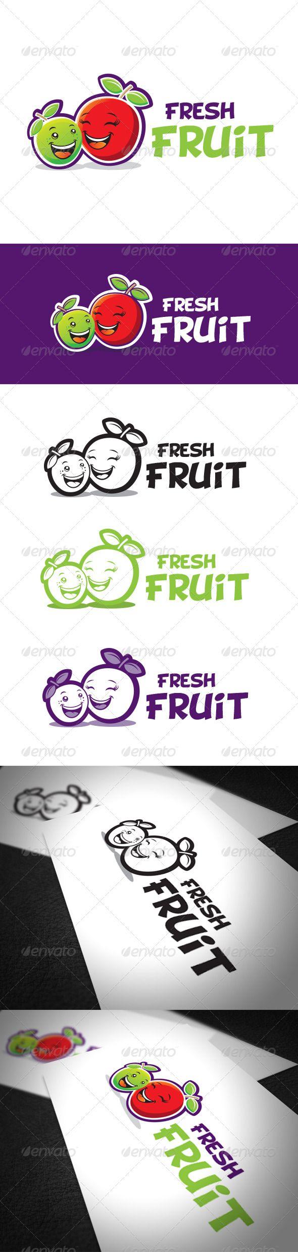 Fresh Fruit Logo Template (Food)