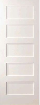 interior doors with molding | ... Panel White Primed Shaker Door EL-SH755 | Interior Solid Primed Doors