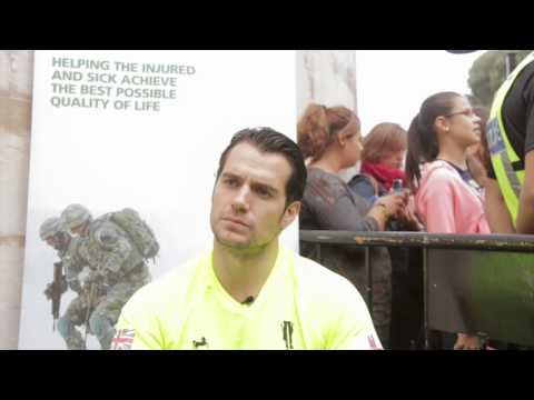 Exclusive: Henry Cavill Interview At The 'Gibraltar Rock Run' - YouTube