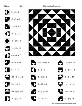 Worksheet Free Integer Worksheets 1000 images about math on pinterest integers subtracting color worksheet