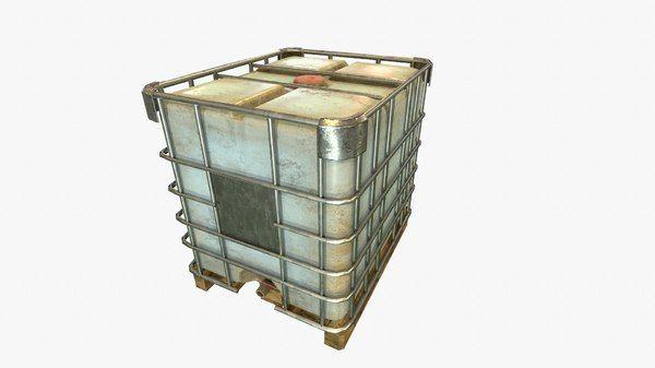Water Container 1000L 3D Fbx - 3D Model