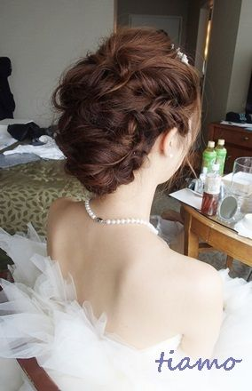 Beautifull hair for  a wedding