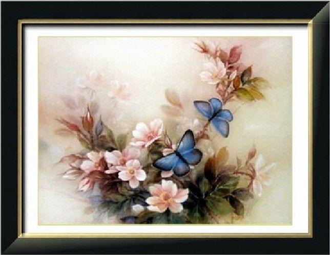 Дешевое 3D комплект голубая бабочка цветы   комплект для вышивания для вышивания европейский домашнего декора ручной работы Diy ремесло, Купить Качество Швейные наборы непосредственно из китайских фирмах-поставщиках:       Вышитые ткани Технические характеристики:  11CT                        Решетки номер:             251*185