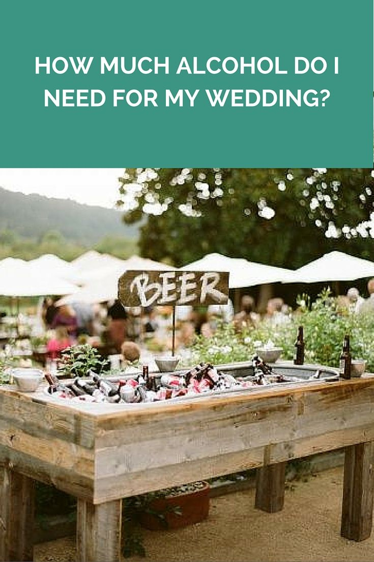 How Much Alcohol Do I Need For My Wedding? http://www.wedshed.com.au/how-much-alcohol-do-i-need-for-my-wedding/