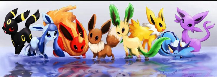 "I have one little brother (Eevee) and 7 twin sisters. We are all girl (other than Eevee) octuplets and that is why all our names all end in ""eon""."