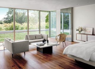 Modern Bedroom and Tod Williams Billie Tsien Architects in Amagansett, New York
