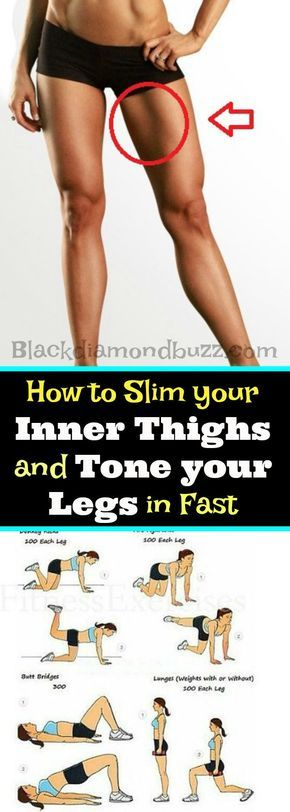 Gym & Entraînement : How to Slim your Inner Thighs and Tone your Legs in Fast in 30 days. These exerc...