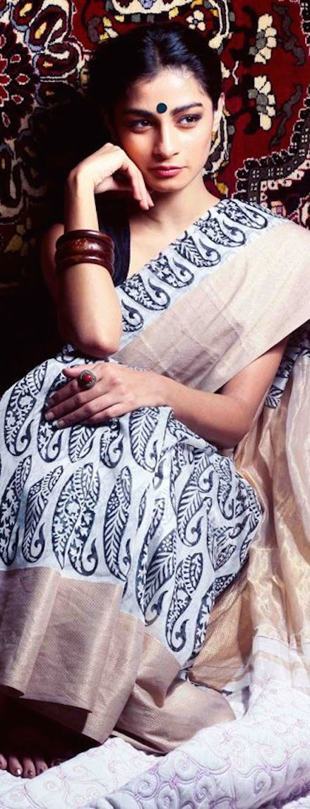 Block printed Maheshwari Saree from Jaypore - original pin by @webjournal