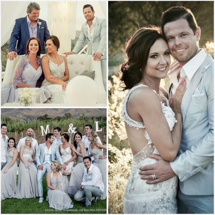 #BridalCouture #DiaanDaniels #Bride #Groom #Suit #Bridesmaids #BestMen #Parents CEDAR SQUARE FOURWAYS