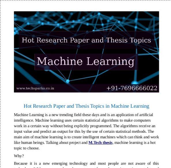 Thesis machine online