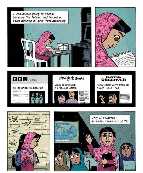 This Illustrated Malala Yousafzai Quote Might Make You Cry - This little girl is my hero.