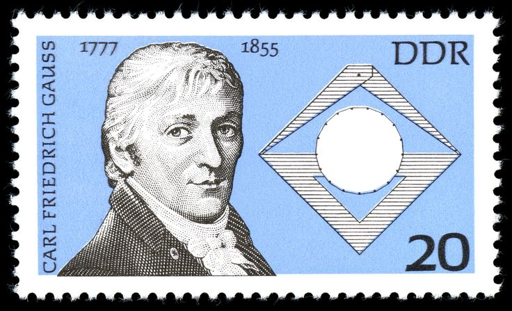 Stamps of Germany (DDR) 1977, MiNr 2215 - Carl Friedrich Gauss - Wikipedia