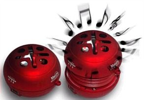 Moshi Bassburger Mini Speaker (Red) Mini speaker with maxi sound, suitable for iPod, CD, MP3, laptops