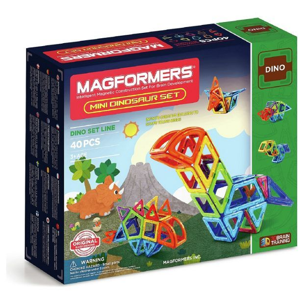 Buy Magformers Mini Dinosaur 40 Piece Set at Argos.co.uk - Your Online Shop for Construction toys, LEGO and construction toys, Toys.