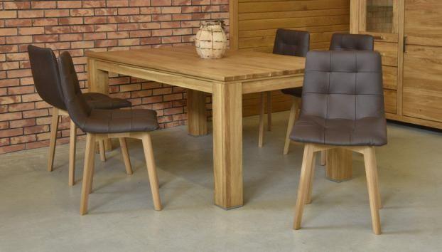 Bőr székek tölgyfa asztallal