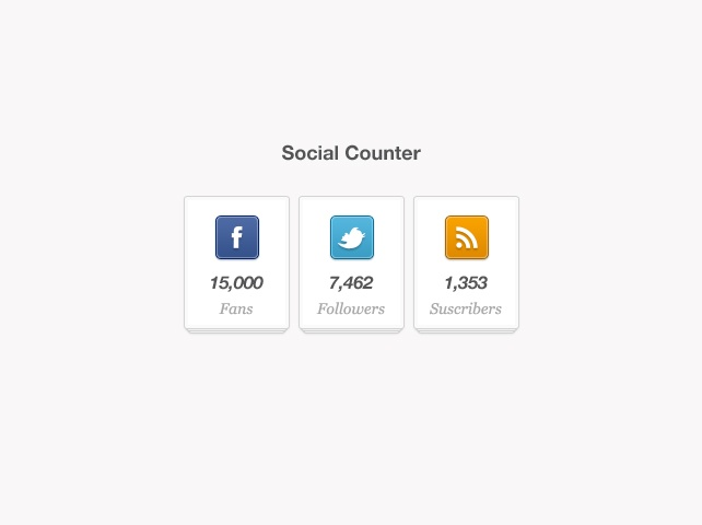Social Counter Widget (psd)