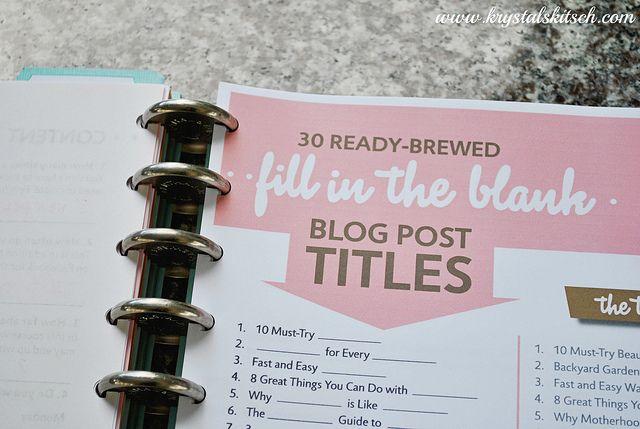 Blog Planner Organization | Click Chicks Photo Challenge