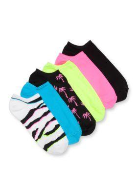 Hue Women's Microfiber Liner Socks -6 Pack -  - No Size