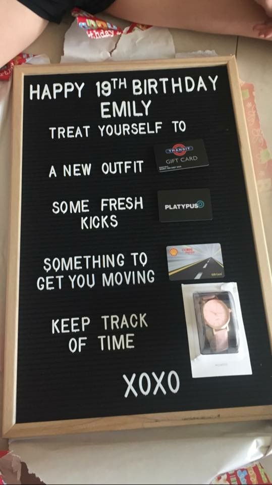 Kmart Letterboard Not My Hack But Saved For Inspiration Gift Hacks Birthday Gift Picture Funny Birthday Gifts