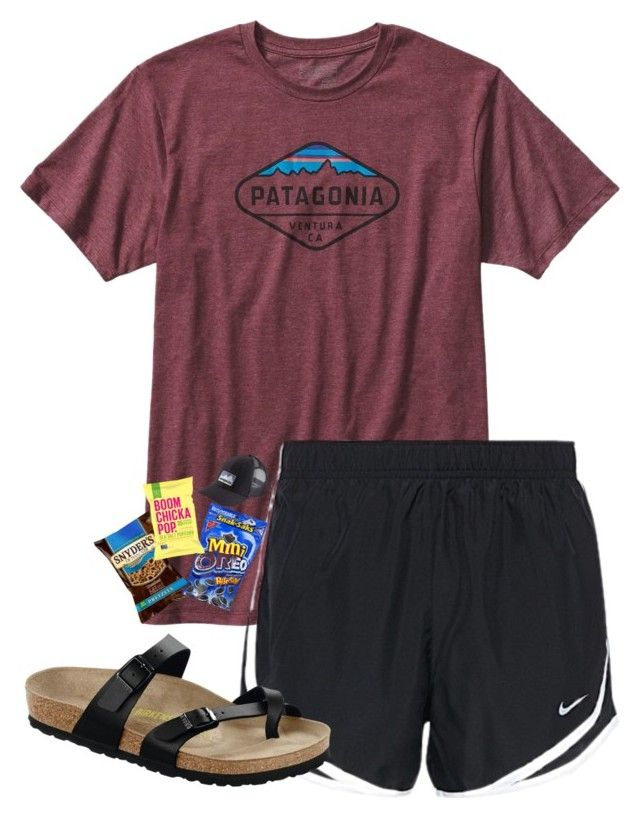 """""""Day 1: driving to the beach"""" by kolbee24 ❤ liked on Polyvore featuring beauty, Patagonia, NIKE, Birkenstock and AbbypjsSummerContest"""