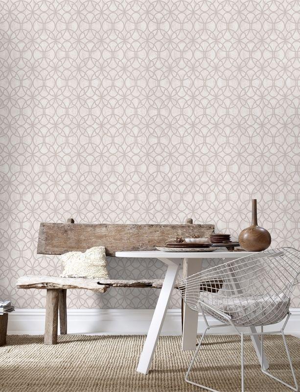 Superfresco Easy 52cm x 10m Origin Taupe Wallpaper  #provincial #pastethewall #geometric
