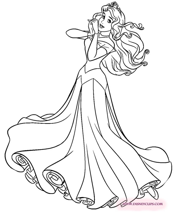 disney aurora coloring pages-#14