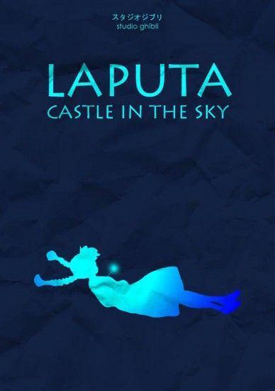 Castle in the Sky: Film, Studio Ghibli, Not Them Miyazaki, Sky, Hayaomiyaza The, Movies, Castles, Minimalist Poster, Laputa Castle