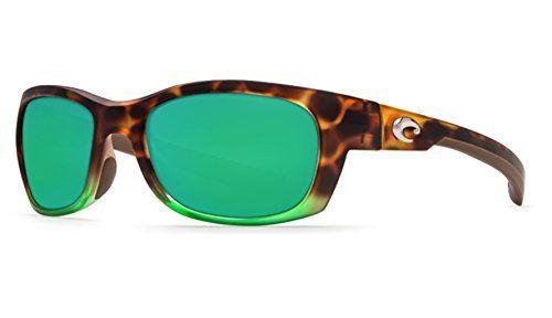 Costa Del Mar Trevally Sunglasses Matte Tortuga Fade Green Mirror 580Glass