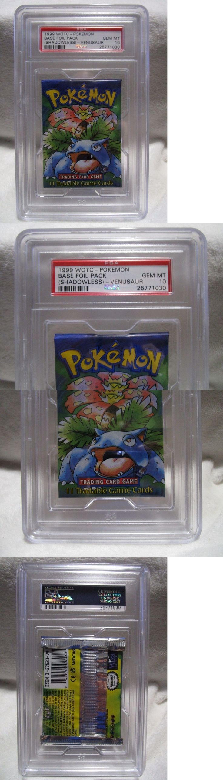 Pok mon Individual Cards 2611: Psa 10 Gem Mint Shadowless Base Venusaur Art Booster Pack Of Pokemon Cards S23 -> BUY IT NOW ONLY: $129.99 on eBay!