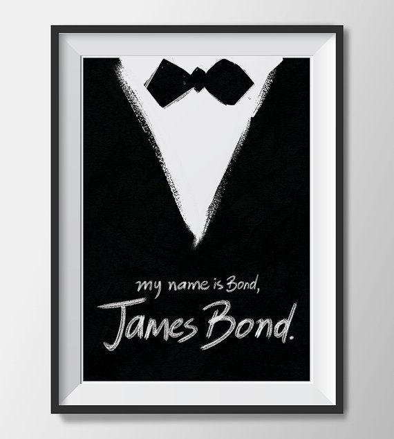 JAMES BOND Quote Poster Printable Wall Art Home by print4wall