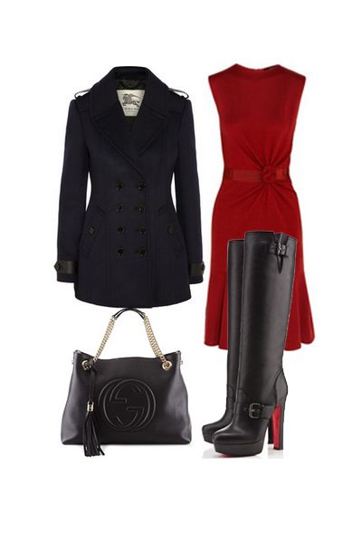 Winter Outfit, Christian Louboutin Boot @HeeledShoes