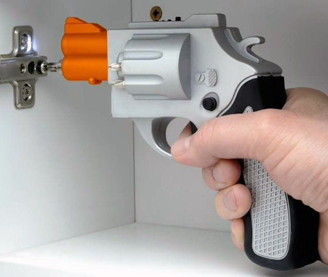 Drill Gun Power Screwdriver: This power tool packs some heat! Get it HERE: http://www.thegiftsformen.com/drill-gun-power-screwdriver.php
