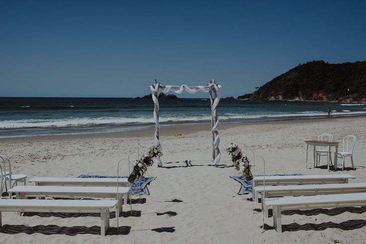 Byron Bay Beach Wedding   Photo by The Follans http://www.thefollans.com.au/