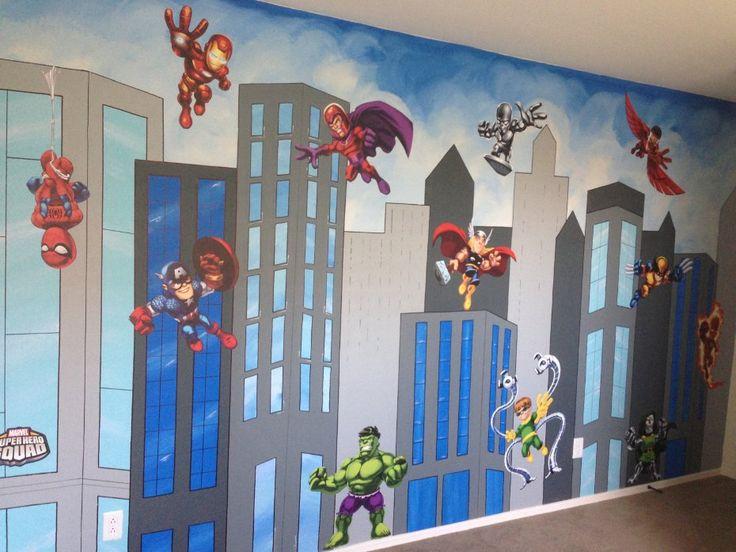 Superhero bedroom wall decals | Teenage Boys Bedroom Ideas | Pinterest | Bedroom wall decals ...