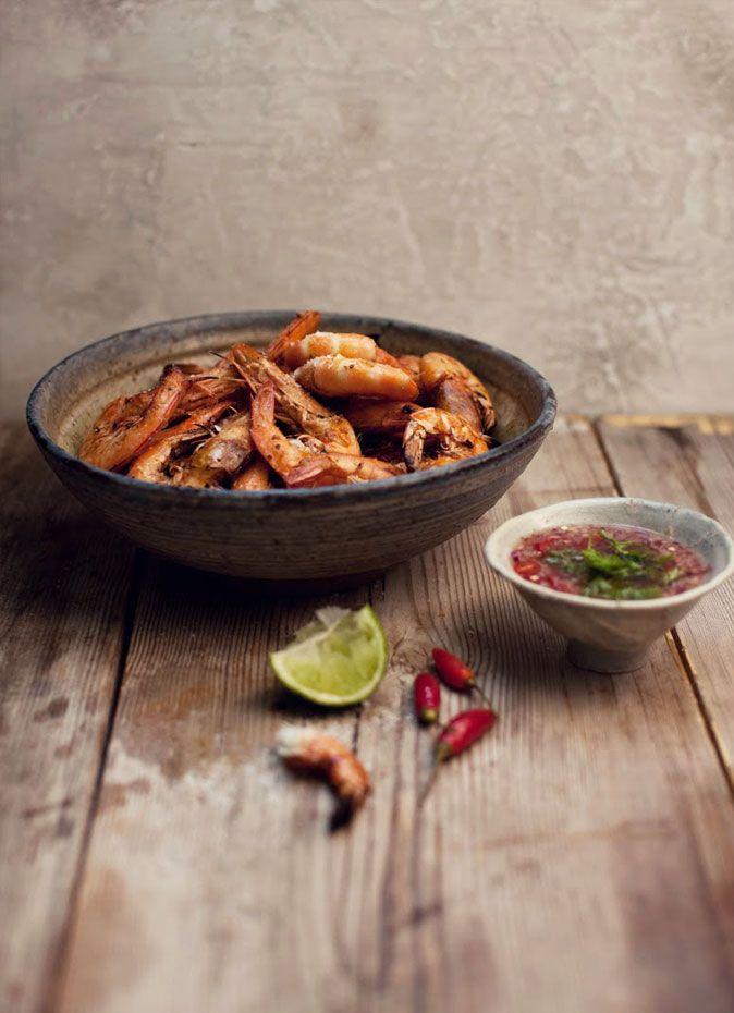 ~shrimp with marinara dipping sauce~