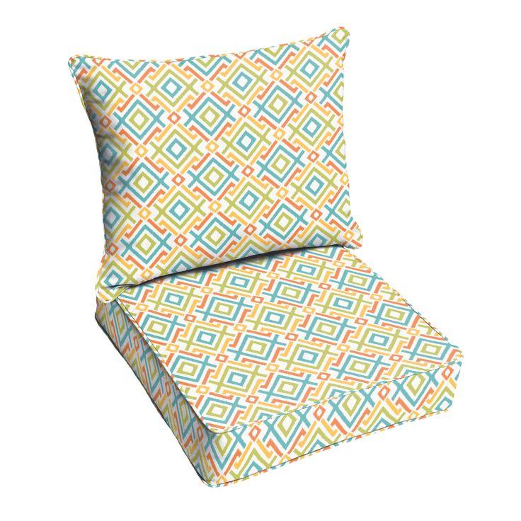 Mozaic Company Jenny Tropical Outdoor Sofa Cushion