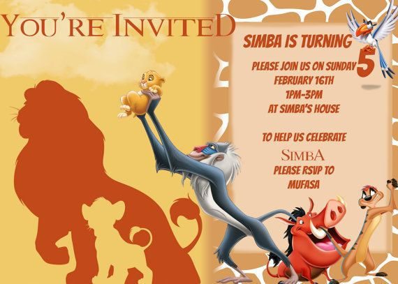114 best the lion king images on pinterest sew carnival and draw items similar to lion king inspired invitation on etsy bookmarktalkfo Images