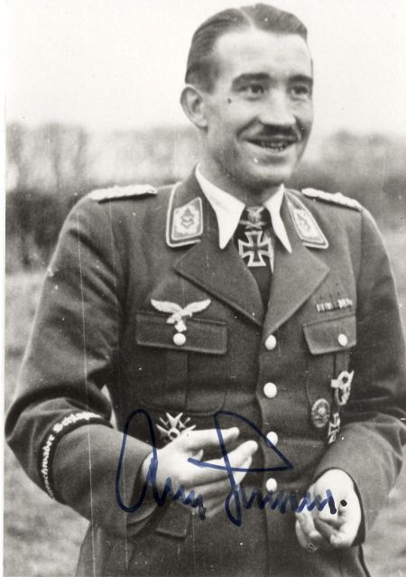 Adolf Galland smiling.