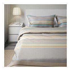 PALMLILJA Duvet cover and pillowcase(s), beige - beige - Full/Queen - IKEA