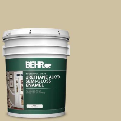 BEHR 5 gal  #S330-3 Seasoned Salt Urethane Alkyd Satin